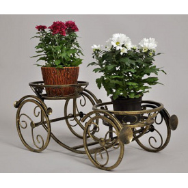 Подставка для цветов Холодная ковка Карета 2