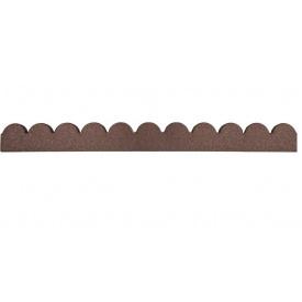 Декоративний бордюр для саду MultyHome Зубці 10х5х120 см теракотовий