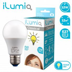 Светодиодная лампа ilumia 004 L-12-A60-E27-WW 1200лм 12Вт 3000К