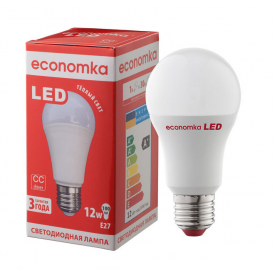 Светодиодная лампа Economka LED A60 12W E27 2800K
