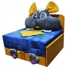 Детский диванчик малютка Ribeka Мышка Голубой (24M09)