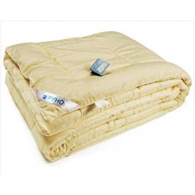 Одеяло шерстяное Руно евро двуспальное жаккардовое молочное 200x220 см