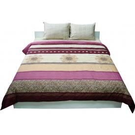 Комплект постельного белья Руно сатин 40-0689 bordo евро