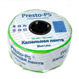 Щелевая капельная лента Presto-PS Blue Line для расхода воды 2,2 л/ч 1000 м (BL-15-1000)