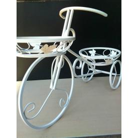 Подставка для цветов FlowerStand Велосипед 2 белый