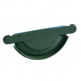 Заглушка желоба универсальная с уплотнителем Bilka 125 мм зеленая (RAL 6020)
