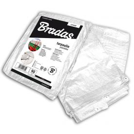 Тент водонепроникний Bradas WHITE тарпаулін 90 г/м2 4x5 м білий PLW904/5