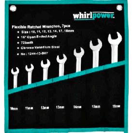 Набір ключів Whirlpower трещоточных з карданом 10-19 мм 7 шт 23632/ 1244-13-B07