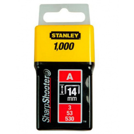Скобы STANLEY тип А, 14мм, к степлера ручного Light Duty, 1000шт (1-TRA209T)