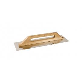 Терка нержавеющая MasterTool с деревянной ручкой 125x480 мм (08-3500)