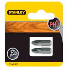 Набор бит STANLEY односторонняя, Ph1, 25 мм, 2 шт (STA61020)