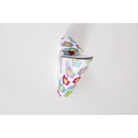Мебельный полкодержатель Poliplast ПП-2пластиковый цветы