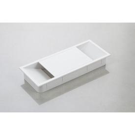 Заглушка під дроти Poliplast прямокутна 150x62 білий