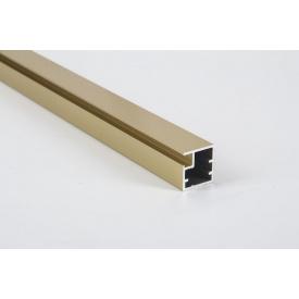 Фасадный алюминиевый профиль М1N 5950 мм золото полированное