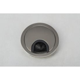 Заглушка под провода GTV круглая инокс(пропуск для кабеля)