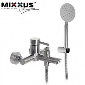 Смеситель для ванны короткий нос MIXXUS Sus EURO (Chr-142), Польша (нержавеющая сталь)