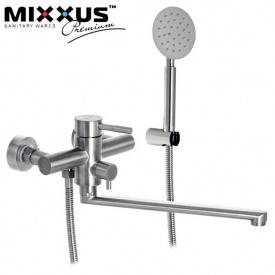 Смеситель для ванны длинный нос MIXXUS Sus EURO (Chr-006), Польша (нержавеющая сталь)