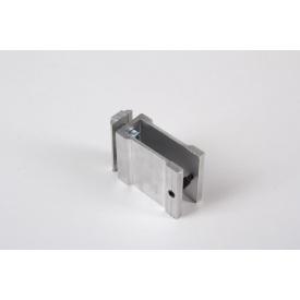 З'єднувальне кріплення до алюмінієвої трубі 50х30 НЕ анодируване для меблевих конструкцій
