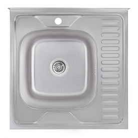 Кухонная мойка Lidz 6060-L 0,6 мм Decor (LIDZ6060LDEC06)