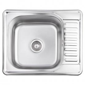 Кухонная мойка Lidz 5848 0,8 мм Micro Decor (LIDZ5848MDEC)