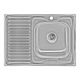Кухонная мойка Lidz 6080-R 0,6 мм Decor (LIDZ6080RDEC06)
