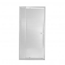 Душевая дверь в нишу Qtap Pisces WHI208-9.CP5 79-92х185 см, стекло Pattern 5 мм