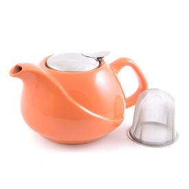 Чайник заварювальний з ситечком Fissman 750 мл помаранчевий