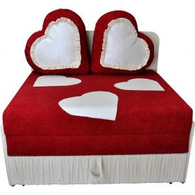 Детский диванчик малютка Ribeka Сердца Красный (24M08)