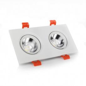 ElectroHouse LED Светильник потолочный белый двойной 5W угол поворота 45° 4100K