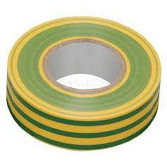Ізоляційна стрічка 0.18х19 мм 20 м жовто-зелена IEK