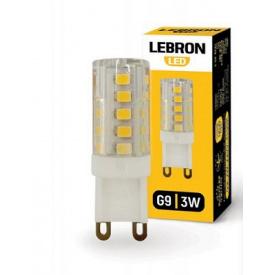LED лампа Lebron L-G9 3W G9 3300K 280Lm кут 360°