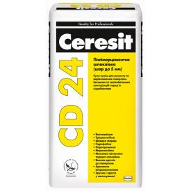 CERESIT CD 24 Полимерцементная шпаклевка слой до 5 мм 25 кг