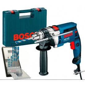 Дрель ударная Bosch Professional GSB 16 RE в чемодане с ЗИП и набором 7 сверл CYL 9 Multi Construction