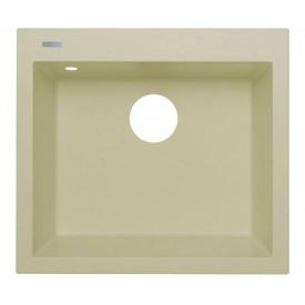 Кухонна мийка Adamant UNIVER 560х500х200, з сифоном, 08 ivory