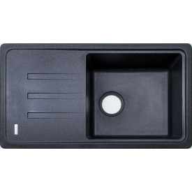 Кухонна мийка Adamant SLIM LONG 780х435х200, з сифоном, 03 чорний