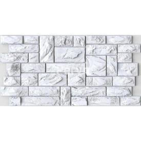 Камень ПВХ Регул Пиленый настоящий белый 0,4х493х977 мм