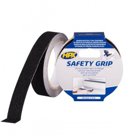 Лента HPX SAFETY GRIP 25 мм 5 м черная картон SB2505