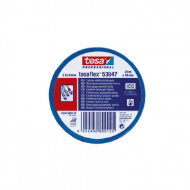 Электроизоляционная лента синяя 20 м 19 мм Tesa