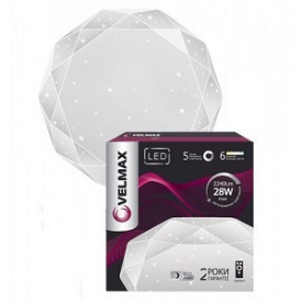 LED светильник VELMAX V-CL-Diamond 28W smart 350х73 мм 3000-6500K 2240Lm пульт ДК
