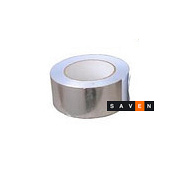 Клейка стрічка алюмінієва для сауни 150 градусів Цельсія 50м/рулон