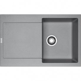 Кухонна мийка Franke Maris вбудована зверху, 1-камерна, з сифоном 780x500 мм, сірий камінь MRG 611 (114.0565.117)
