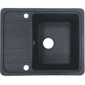 Кухонна мийка Adamant SMALL 570х455х180, з сифоном, 13 графіт