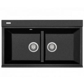 Кухонна мийка Adamant SIMILAR 850х510х230, з сифоном, 03 чорний