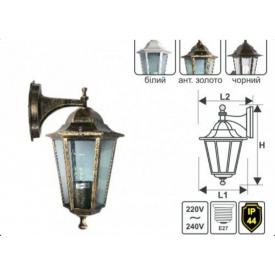 Настінний садово-парковий світильник Lemanso,PL6102 антич.золото