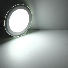 Світлодіодний світильник стельовий Glass Rim Metal 6W круглий 4500К 97*74*40