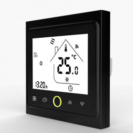Терморегулятор программируемый для теплых полов Wi-Fi Castle twe 002 black Wi-fi