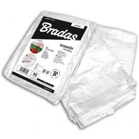 Водонепроникний Тент Bradas WHITE 90 г/м2 білий тарпаулін 6х10м (PLW906/10)