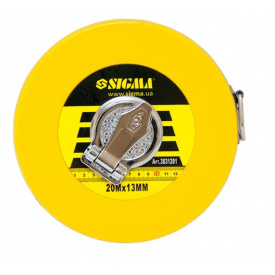Рулетка скловолокно Sigma 20мх13мм (3831201)