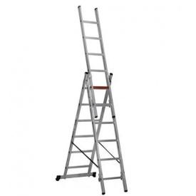 Лестница трехсекционная расскладная VIRASTAR Triomax Pro алюминиевая 3x6 (TS6160)
