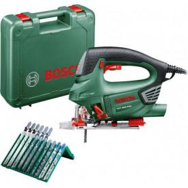 Лобзик электрический Bosch PST 900 PEL + набор оснастки (10 шт.) promo (06033A0201)